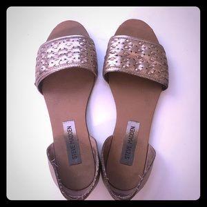 Gold Steve Madden Sandals